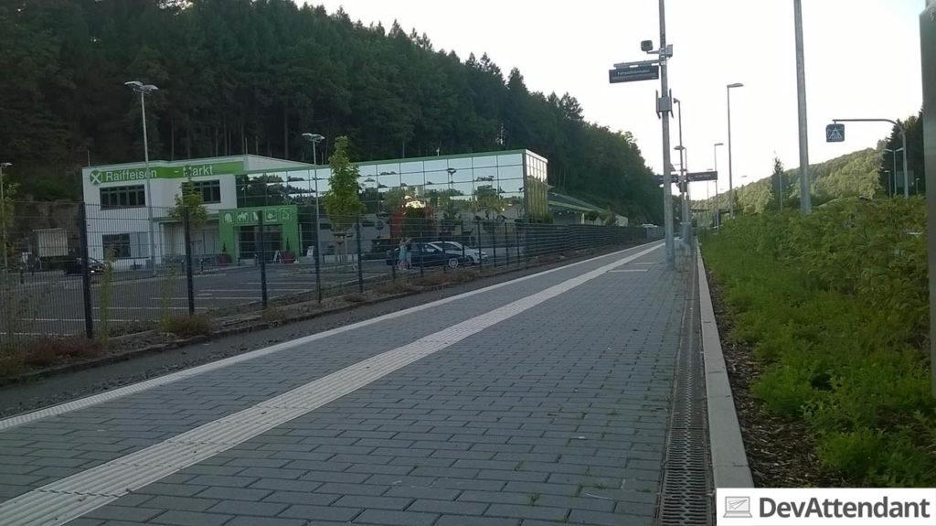 """Der """"Bahnhof"""" in Olpe - ich hatte mehr erwartet... (aufgenommen mit dem Lumia 535)"""