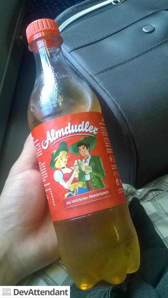 Auf dem Rückweg aus Österreich musste ich natürlich noch eine Flasche dieses köstlichen Getränks mitnehmen :D