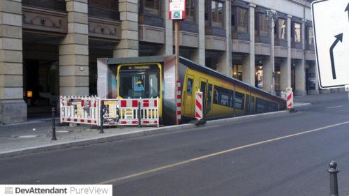 Eine U-Bahn oder so.