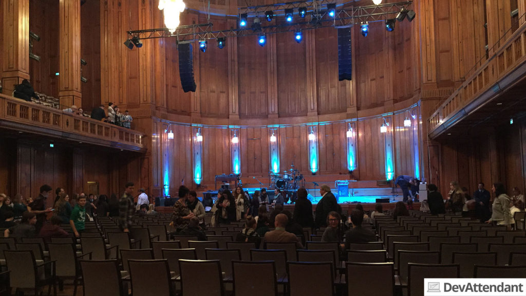 Der Saal nach dem Konzert