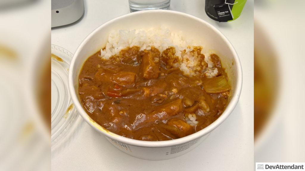 Chicken Curry mit Reis von Wasabi - leider gibt das Bild die Dimensionen nicht vernünftig wieder