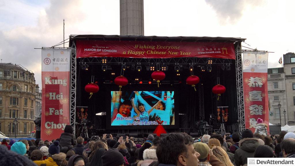 Hauptbühne am Trafalgar Square