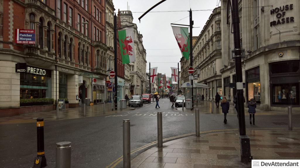 Fußgängerzone, Cardiff