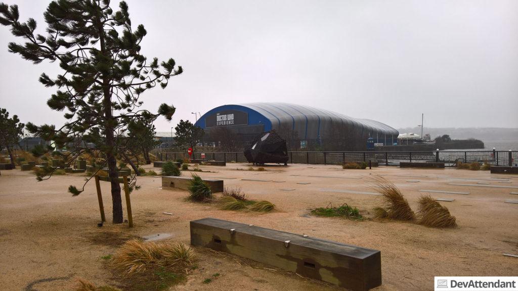 Das Gebäude der Doctor Who Experience (wer findet die TARDIS auf dem Foto? ;) )