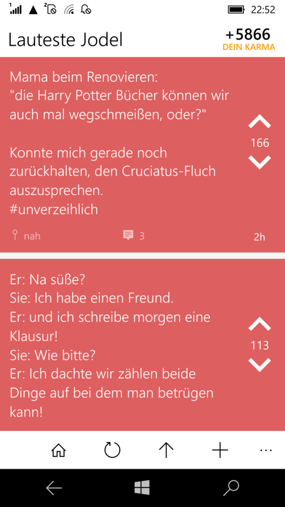 Popular Jodel / Lauteste Jodel (Mobile)