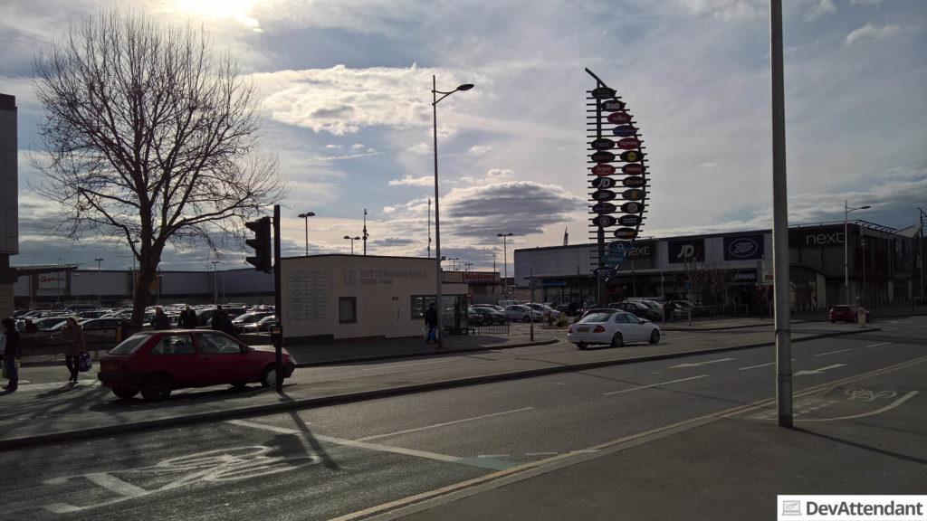Das Einkaufscenter bei Tottenham Hale