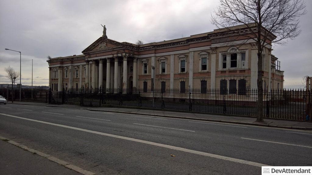 Die Überreste des ehemaligen Crumlin Road Courthouse