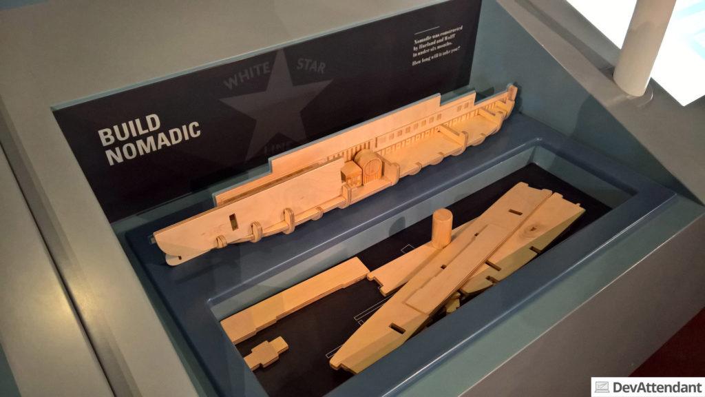 In der SS Nomadic konnten Kinder wahlweise das Schiff selbst zusammenbauen...