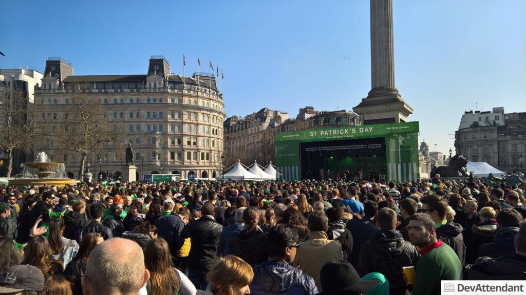 St Patrick's Day Festival auf dem Trafalgar Square