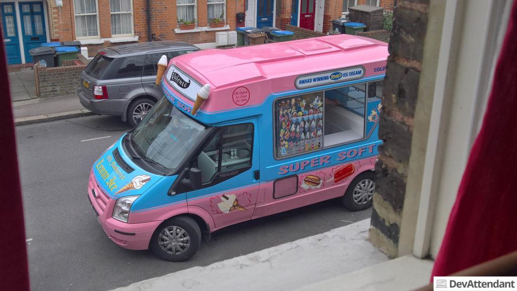 Ein Eiswagen in London