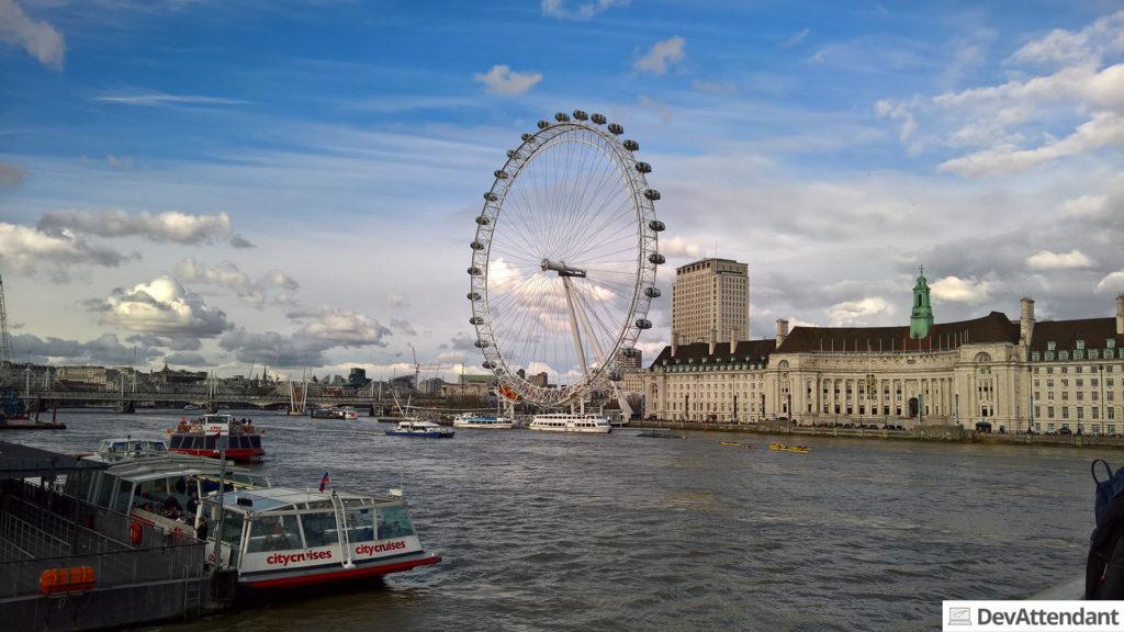 Die Themse und das London Eye