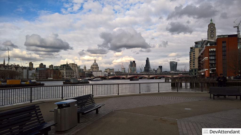 Die Themse samt Skyline