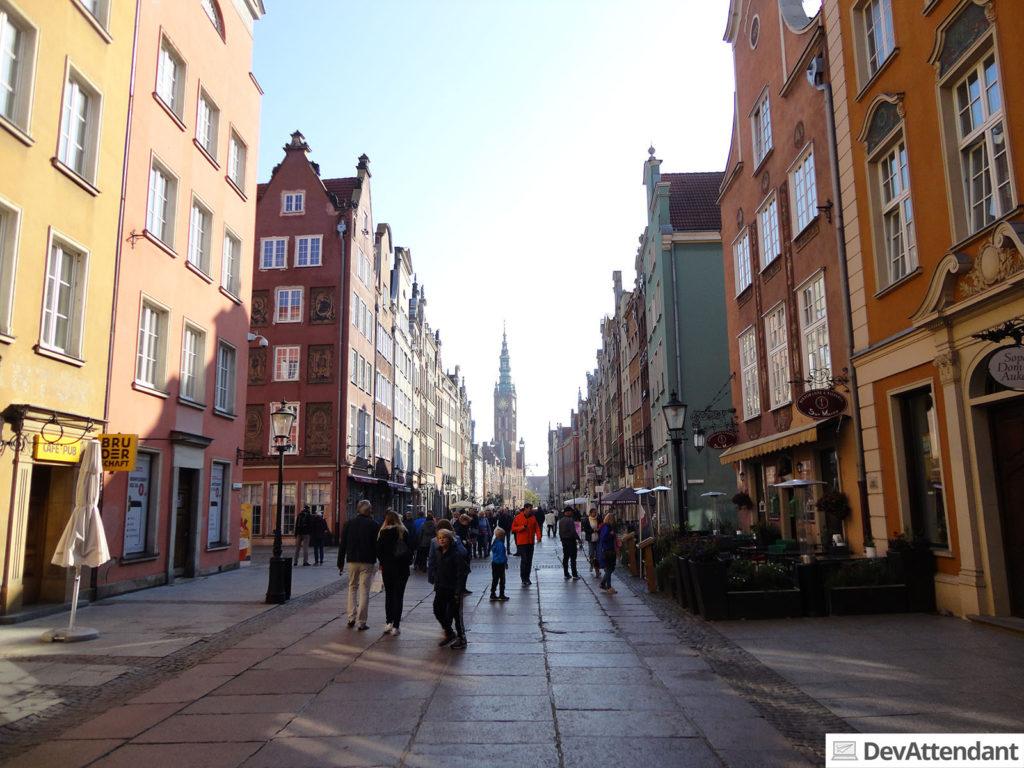 """Blick auf die """"lange Straße"""""""