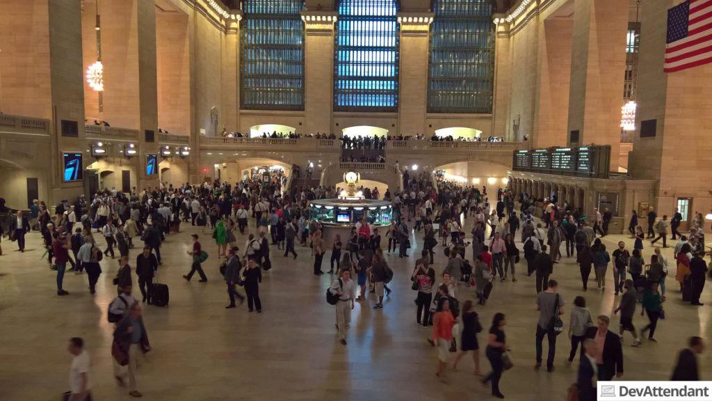 Das Grand Central Terminal im Inneren, bekannt aus Funk und Fernsehen
