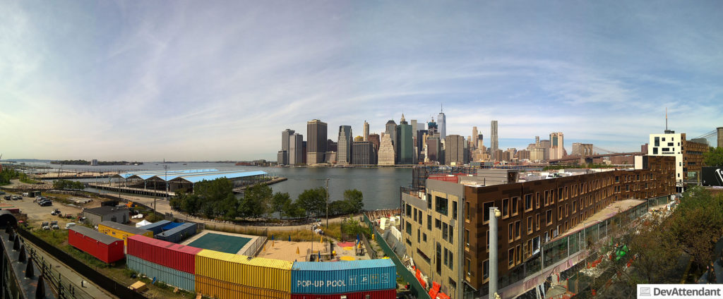 Panorama-Ansicht von Brooklyn Heights