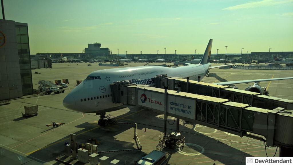 Der Rückflug war nicht mit einem A380...