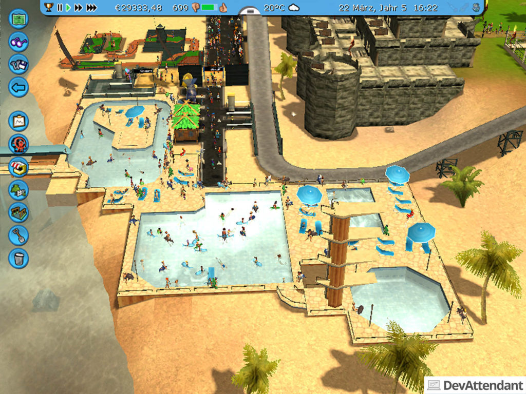 Schwimmbad aus RollerCoaster Tycoon 3 + Soaked