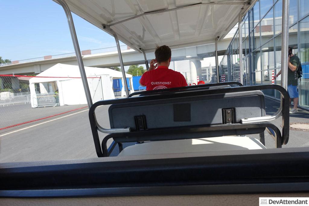 Privater Golfcaddy für die schnellere Fortbewegung auf der Gamescom :D