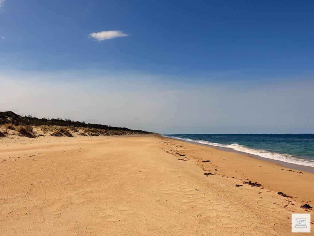 Golden Beach: Weit und breit nüschts - weder links...