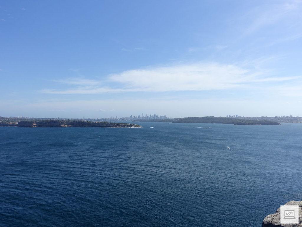 Ganz hinten die Skyline von Sydney