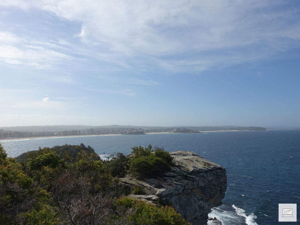 Ausblick auf Manly Beach und die Nordostküste Sydneys