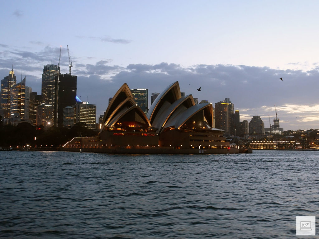 Das Opera House in der Dämmerung
