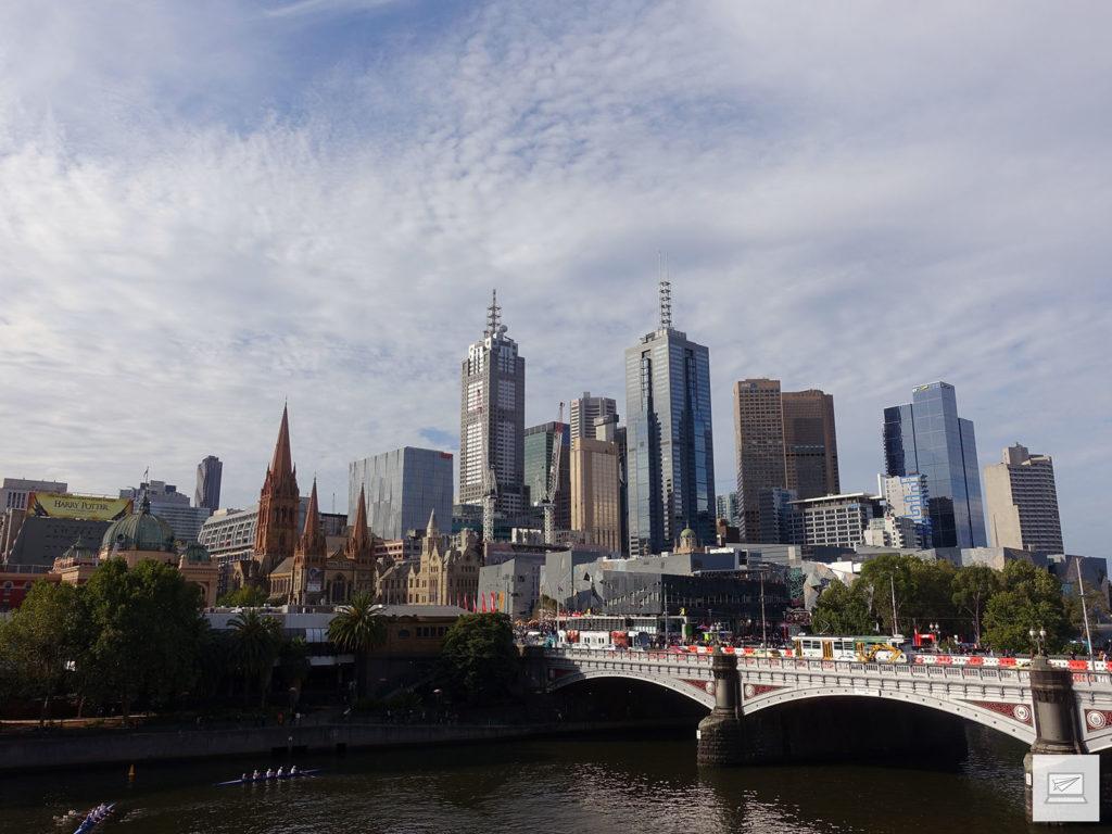 Ausblick vom Arts Centre Melbourne
