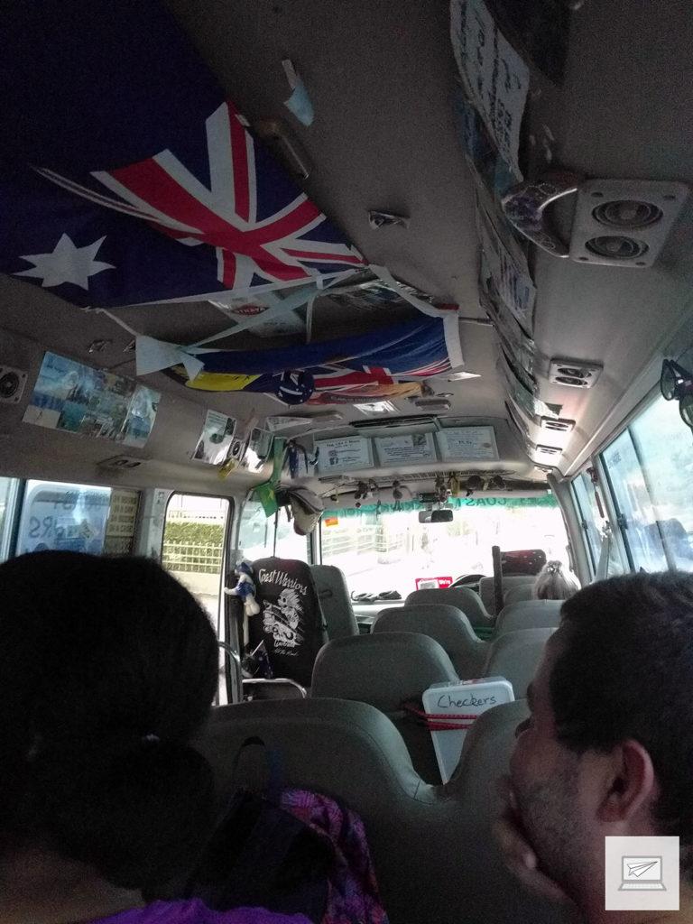 Mit diesem kleinen Bus machten wir uns auf den Weg in die Blue Mountains