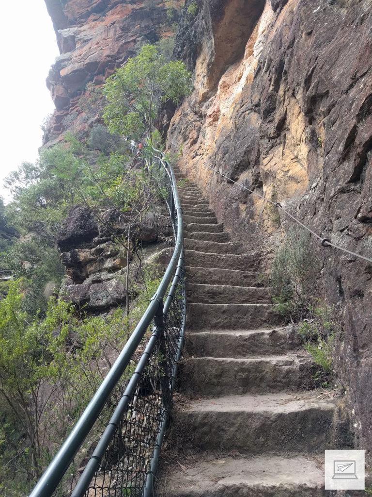 Steile Abstiege gab es einige - auf dem Foto sieht es nicht so schlimm aus