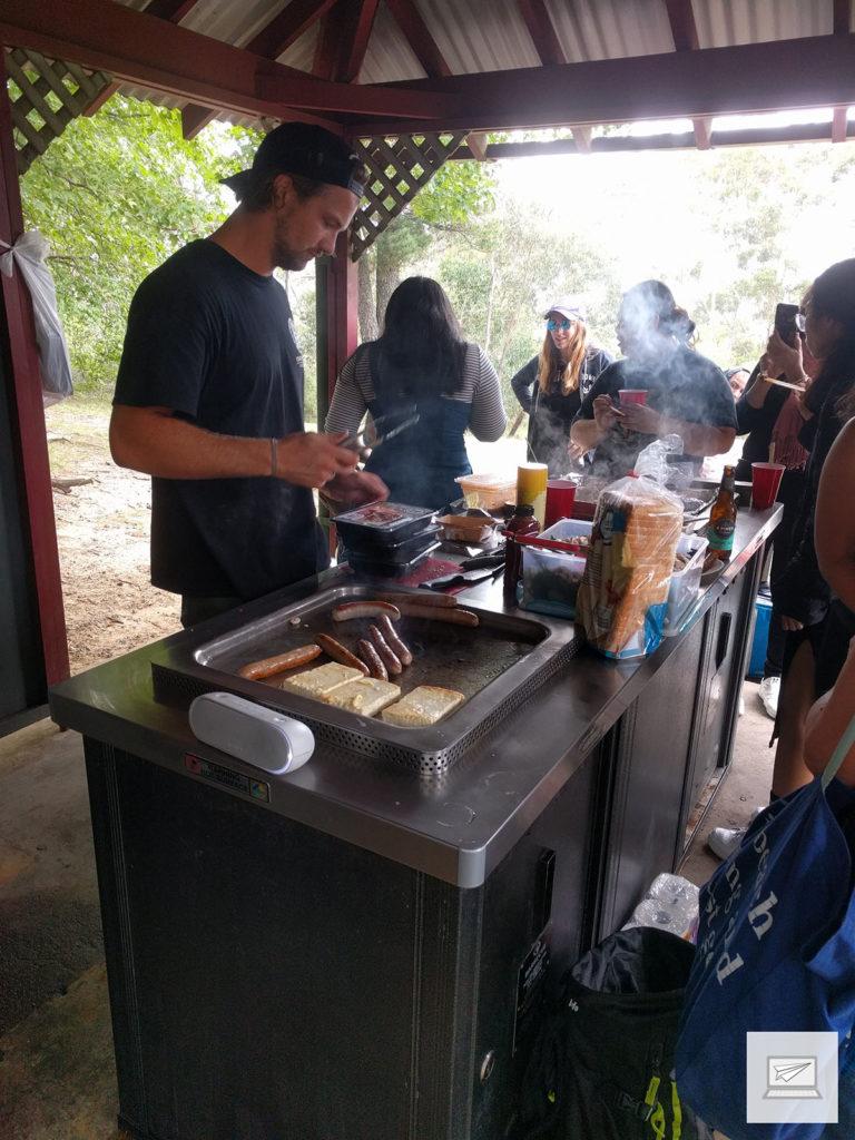 Als Belohnung gab es danach aber ein leckeres Barbecue