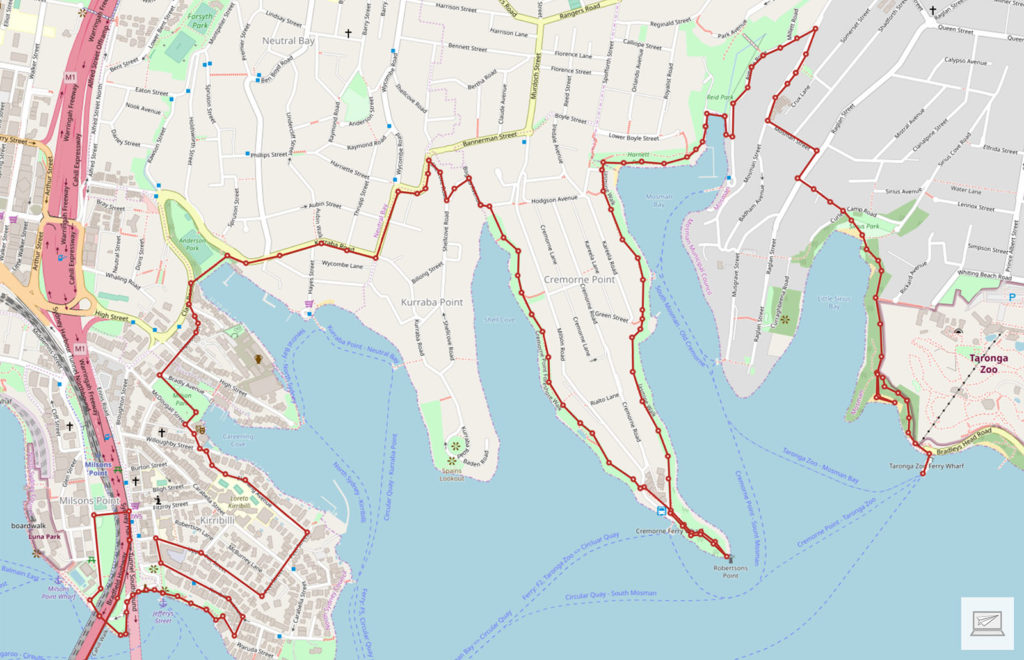 Der zurückgelegte Weg (Erstellt mit: media-tours.de/Open Street Map)