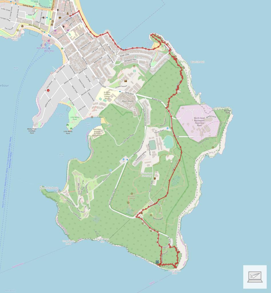 Unser Weg an der Ostküste entlang (Erstellt mit: media-tours.de/Open Street Map)