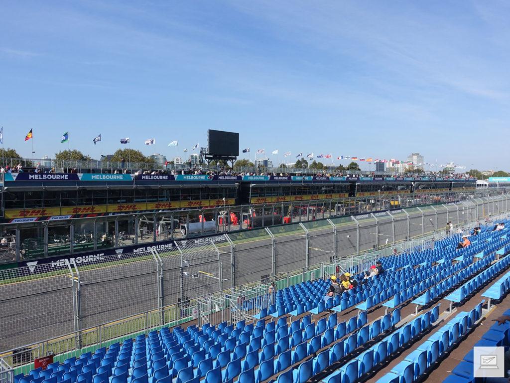 Blick von der Fangio Tribüne am Donnerstag