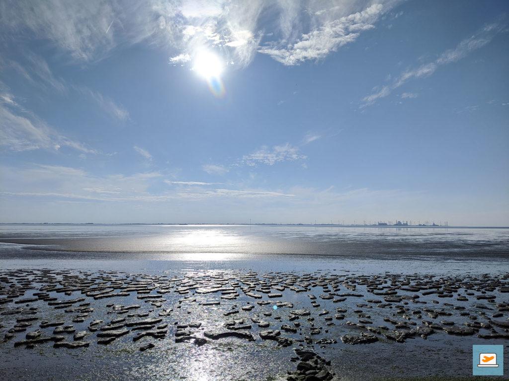 Der Blick aufs Wattenmeer war schon verlockend...