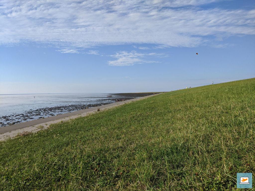 Das Gras diente nachfolgend zum Saubermachen, wobei es an der Strandhütte auch noch eine Fußdusche gab