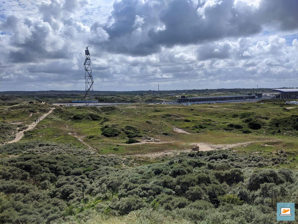 Erster Blickkontakt mit der Rennstrecke in Zandvoort
