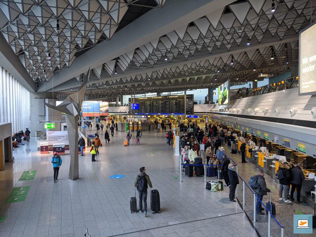 Der Frankfurter Flughafen am Tag der Abreise