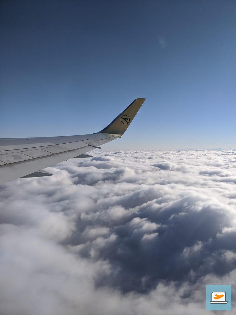 ...und dieser Ausblick über den Wolken.