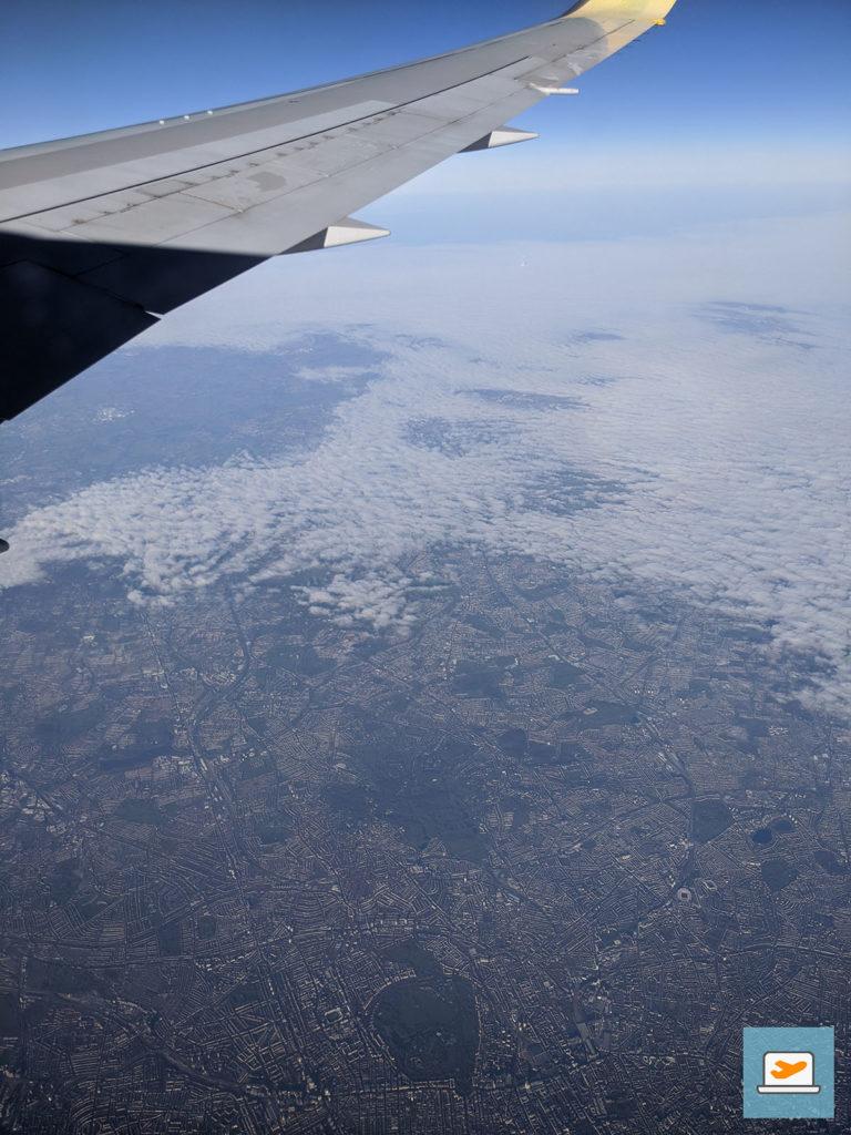 Bevor es auf den Atlantik ging, ging es über London (unten mittig ist der Regent's Park, in dem ich mal spazieren war)