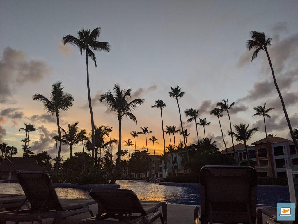 Die Sonnenuntergänge waren natürlich auch schön, sowohl im Hotel...