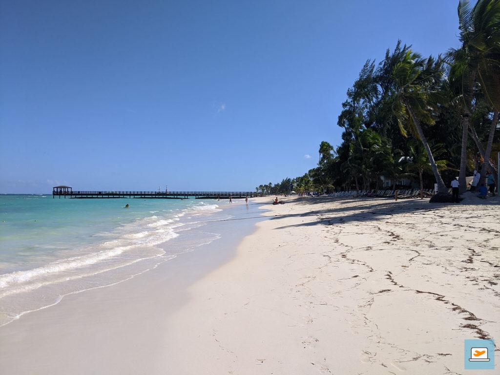 Der Weg führte die ganze Zeit am Strand lang