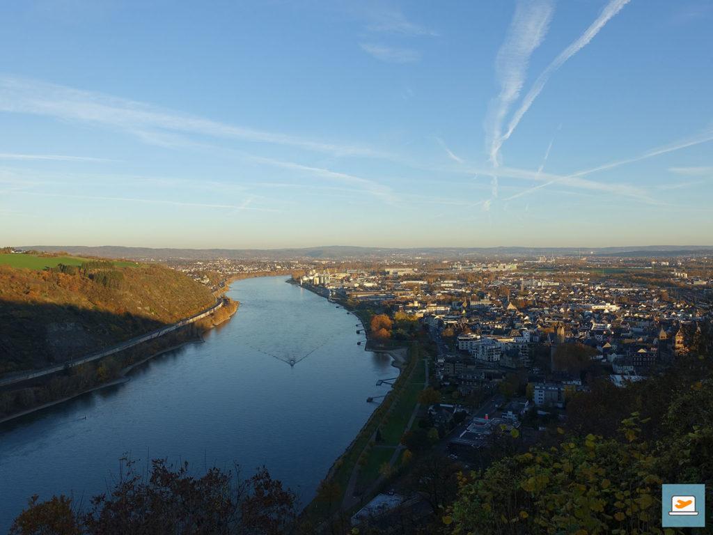 Aussicht in Richtung Koblenz