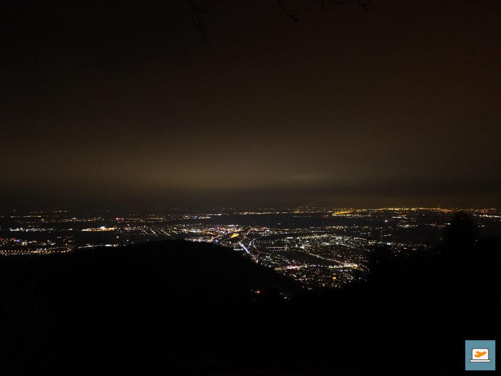 Aussicht auf Heidelberg bei Nacht