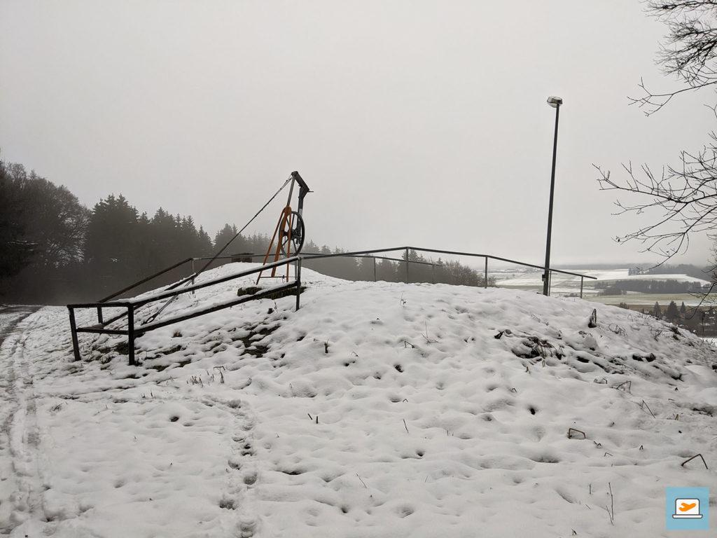 Das obere Ende vom Skilift