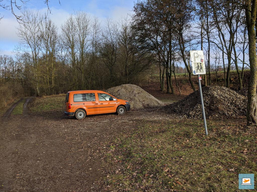 Der verlassene Wanderparkplatz