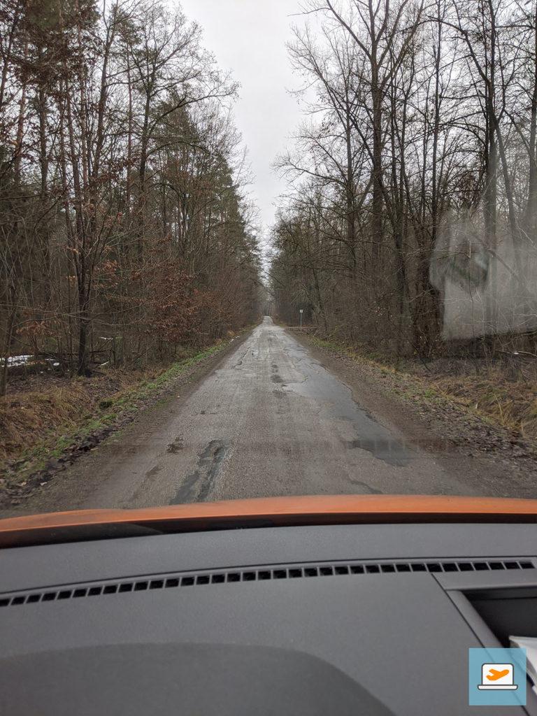 Die selbe Straße am nächsten Vormittag